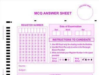OMR sheet Like A,B,C,D uploaded RSCIT RKCL Answer Key 19 January