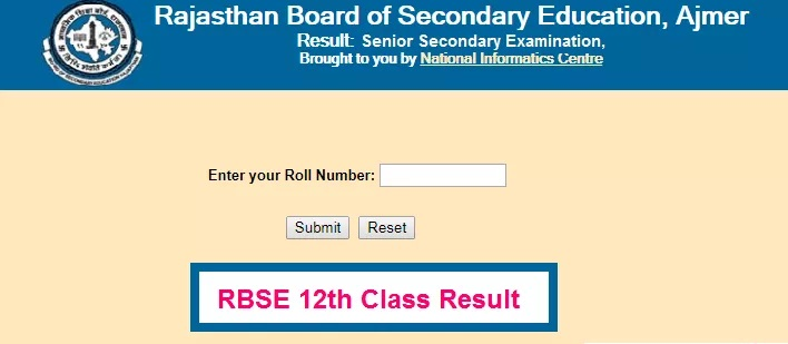 RBSE 12th Arts Result 2021: Sr Secondary Arts Results